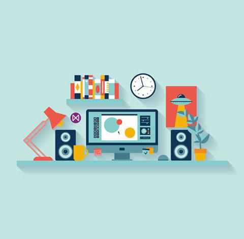 Wizualizacja szkolenia online