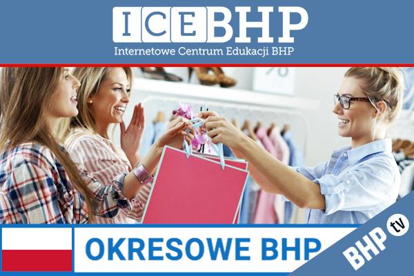 Szkolenie okresowe BHP dla  Sprzedawców i kasjerów