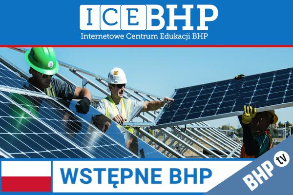 Szkolenie okresowe BHP dla  Szkolenie wstępne BHP dla pracowników robotniczych
